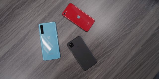 iPhone, Nord, Pixel 4a