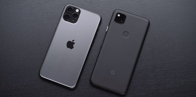 iPhone and Google Pixel 4a