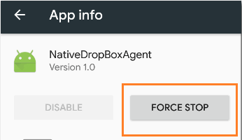 Force Stop Option